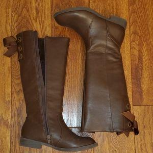 Little girls sz. 2 brown tall boots